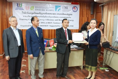A certificate of completion is issued to training course participants, in the hopes that the participants become local seed experts and promote green energy policies and technology in Laos.