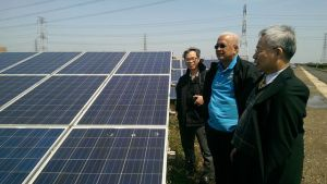 NPC, REAP and ITRI green energy experts visit the Longjin solar farm in Taichung.